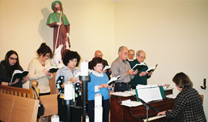 San Rocco Choir, during Sunday Mass