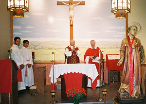 Father Petrongelli presides at Mass.