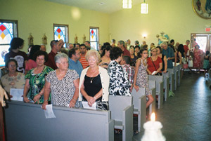 San Rocco church building is filled over capacity.