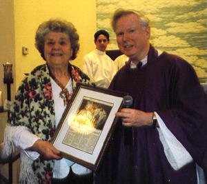 Bernadine Gwiazda and Father Gilligan