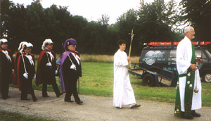 Ray Deabel leading Procession