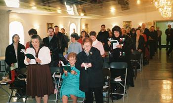 Christmas, 2007, everybody sings.