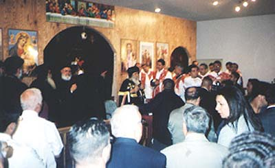 Pope Shenouda visiting St. George's Church