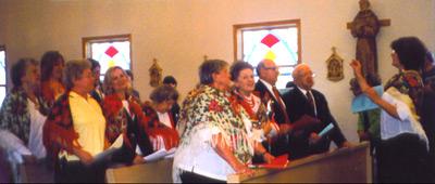 St Joseph's Polish Choir, singing at Sunday Mass at San Rocco