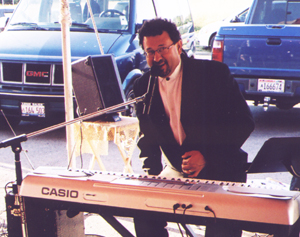 Frank Rossi at the keyboard