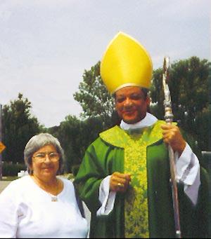 Loretta Semintendi and Bishop Perry