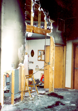 Sacristy, totally destroyed
