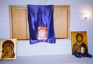 Gospel Book and icons