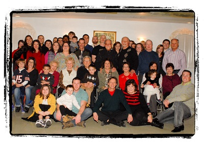 The Venditti Family at their Christmas reunion, in St. Anthony Hall