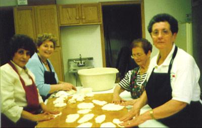 April 22, 2007: Kitchen preparation of frittata.