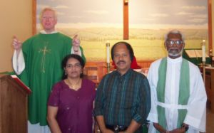 Guests, July 3l, 2011: (from right) Father Jacob Thekeparmil, Korah & Lila Polachira, next to Father Gilligan