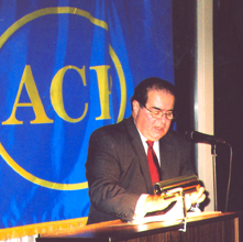 Justice Antonin Scalia, delivering his address at the ACP dinner Oct. 7, 2006, at the Flossmoor Country Club