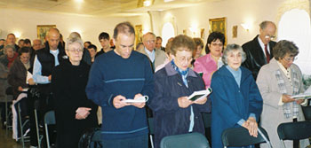 Here is the other half of the congregation on Easter Sunday, 2008