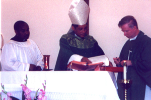 Installation of Father Gilligan as Rector of St. Rocco