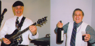 Bob Riley, guitarist, and Frank Granno
