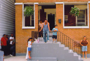 Neighborhood families on 22nd Street