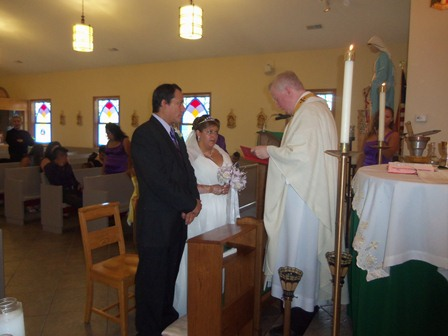 Jose and Patricia Vasquez celebrate their 25th wedding anniversary, at San Rocco Oratory