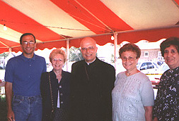 Cardinal George, under the tent