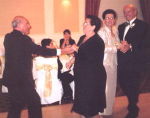 Gene and Livio Planera dancing
