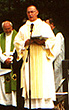 Deacon Gene LaBelle, singing the petitions of the General Intercessions