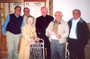 Tom D'Ambrosio, Joe Grilli, Jayleen Angellotti, Father Gilligan, John Onofrio, and Paul Grossi