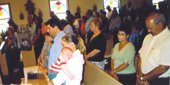 Marinucci family at Sunday Mass
