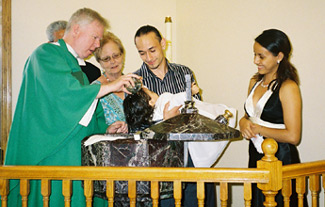 July 20, 2008: Baptism of Jeremy Garcia