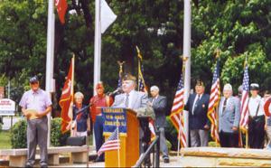 Frank Granno, speaking at gathering of Catholic War Veterans
