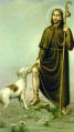 San Rocco, with dog
