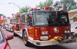 Fire Engine in procession