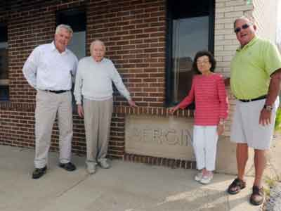 Lee Newquist with the Bergin Family, at Chicago Heights Construction Company.