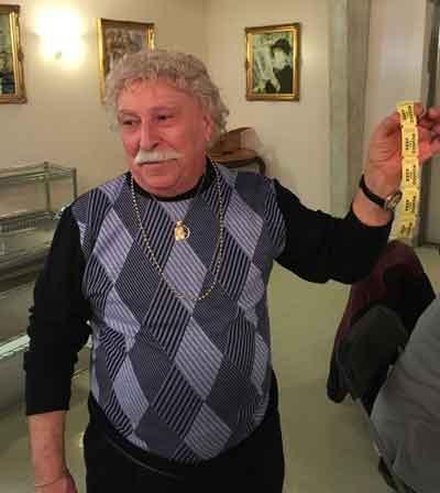 Giuseppe Incandela, winner of the raffle